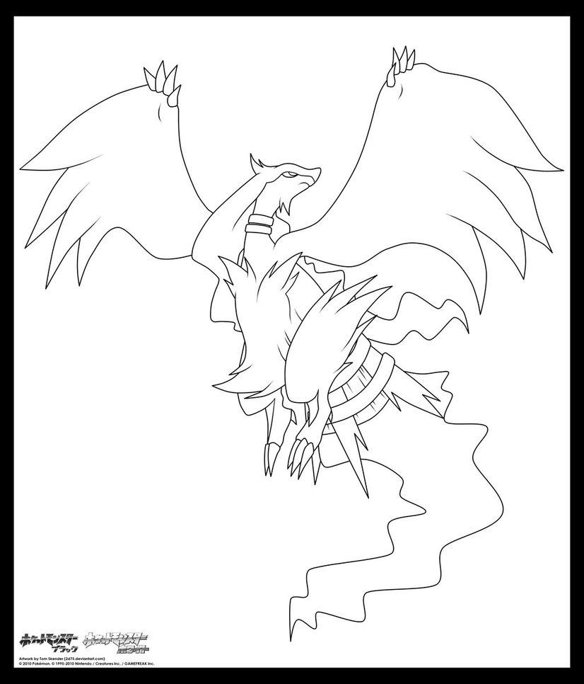 Reshiram Coloring Page