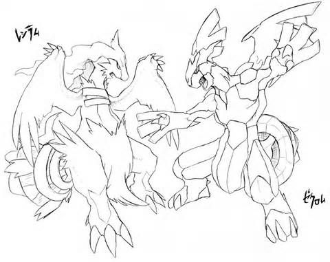 480x381 Pokemon Coloring Pages Of Zekrom And Reshiram Caricaturas De