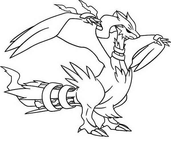 600x525 Pokemon Reshiram Pokemon Coloring Pages