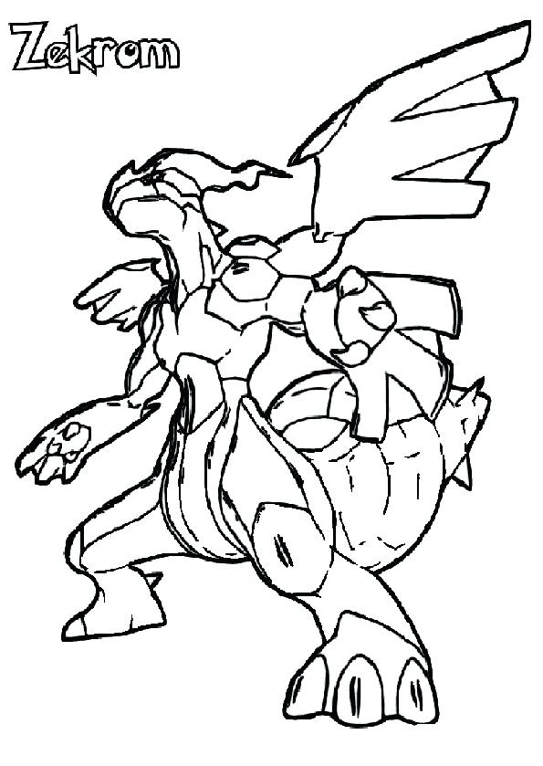 595x839 Pokemon Zekrom Coloring Pages Coloring Design