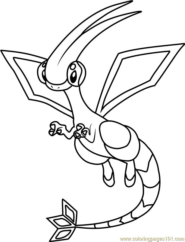 614x800 Flygon Pokemon Coloring Page
