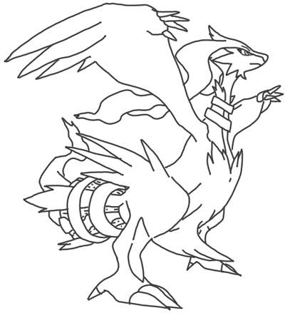 400x439 How To Draw Reshiram From Pokemon In Easy Steps Lesson For Kids