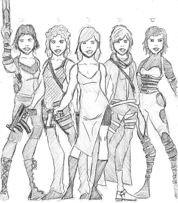 600x685 Resident Evil Coloring Pages Resident Evil Coloring Pages