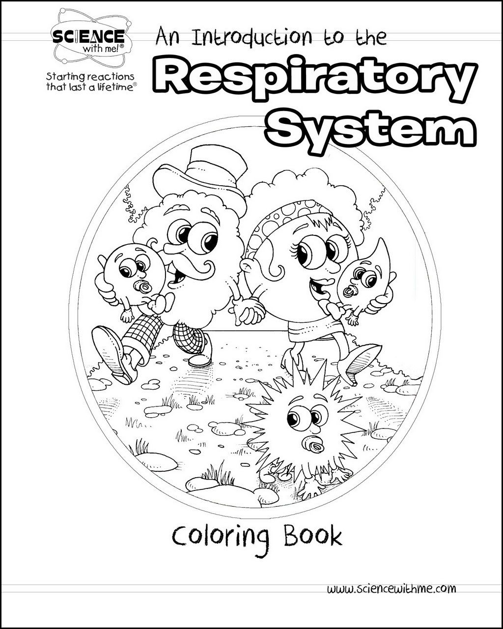 1024x1280 Respiratory System Coloring Page
