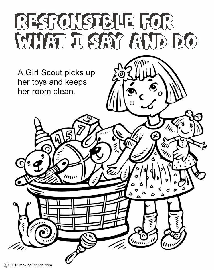 750x943 The Law, Responsible For What I Say And Do Coloring Page Girl