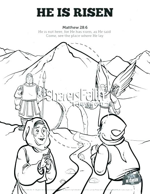 520x673 Jesus Is Risen Coloring Page Coloring Pages Of Resurrection