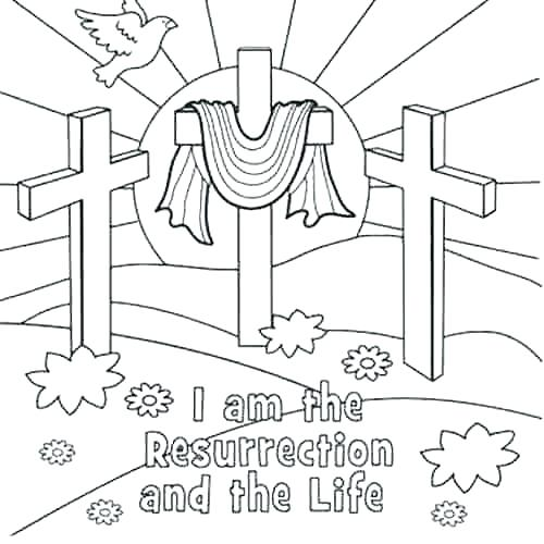 500x500 Jesus Resurrection Coloring Pages Resurrection Coloring Pages Ian