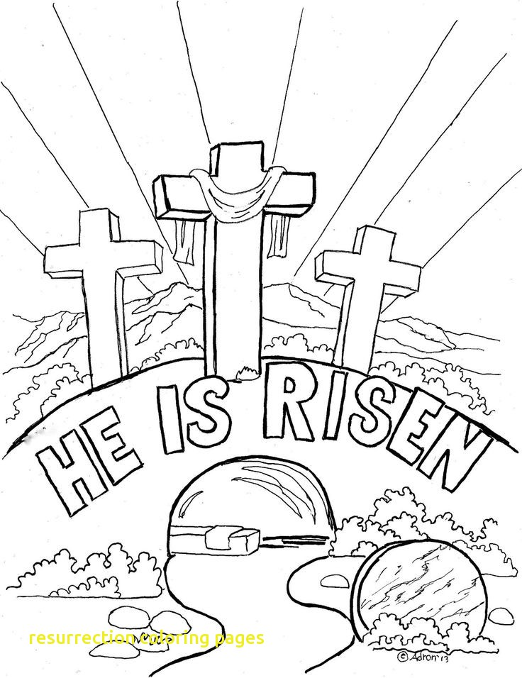 736x956 Resurrection Coloring Pages With Appealing Religious Easter