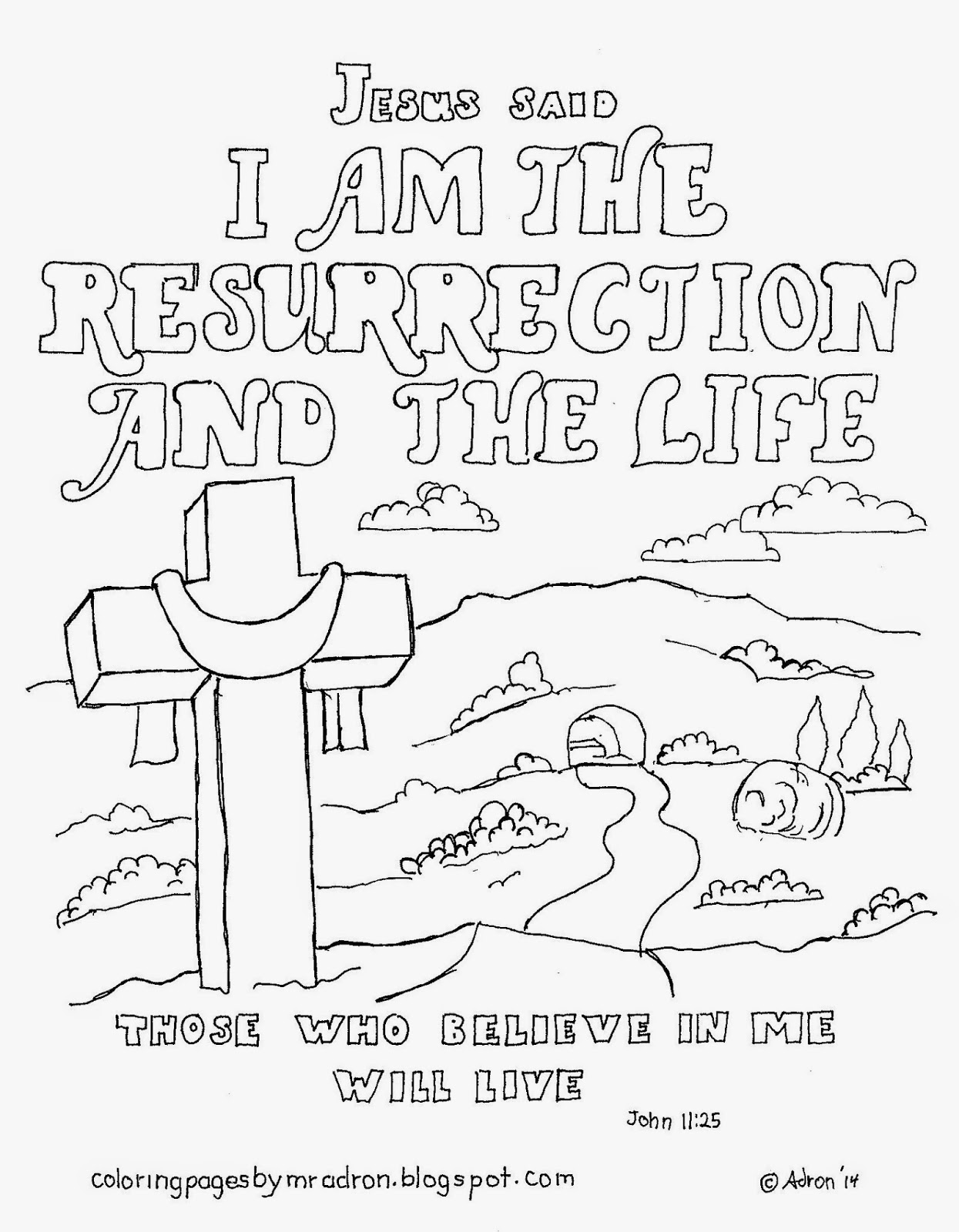 1245x1600 Resurrection Coloring Pages