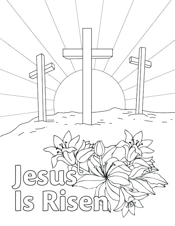 564x729 Resurrection Coloring Pages For Preschoolers Christian Religious