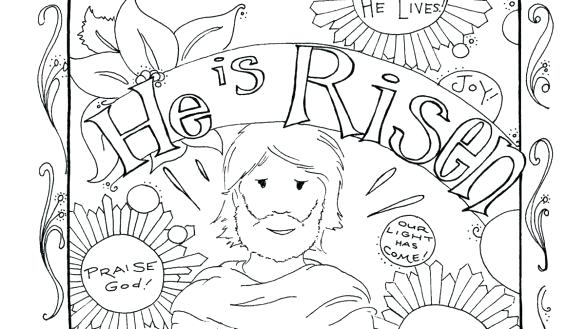 585x329 Resurrection Coloring Page