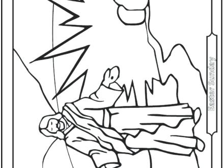 440x330 Resurrection Coloring Pages Resurrection Coloring Page On Easter