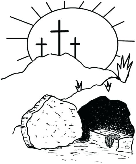 474x571 Resurrection Coloring Pages Resurrection Religious Coloring Pages