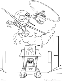 200x259 Dusty, Blade, And The Smokejumpers Coloring Page Johns