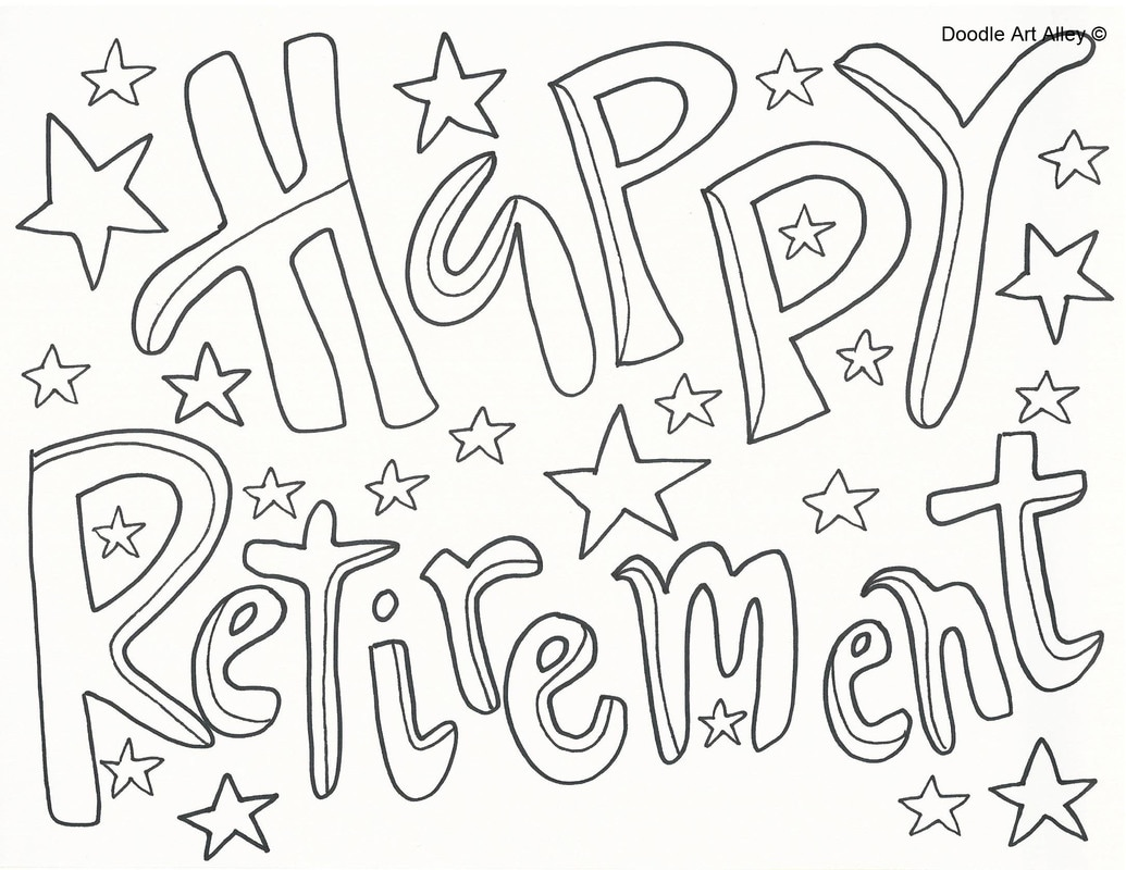 1035x800 Retirement Coloring Pages