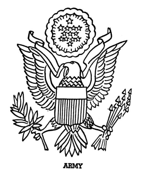 564x690 Armed Forces Day Coloring Page Us Army Insigina Projects