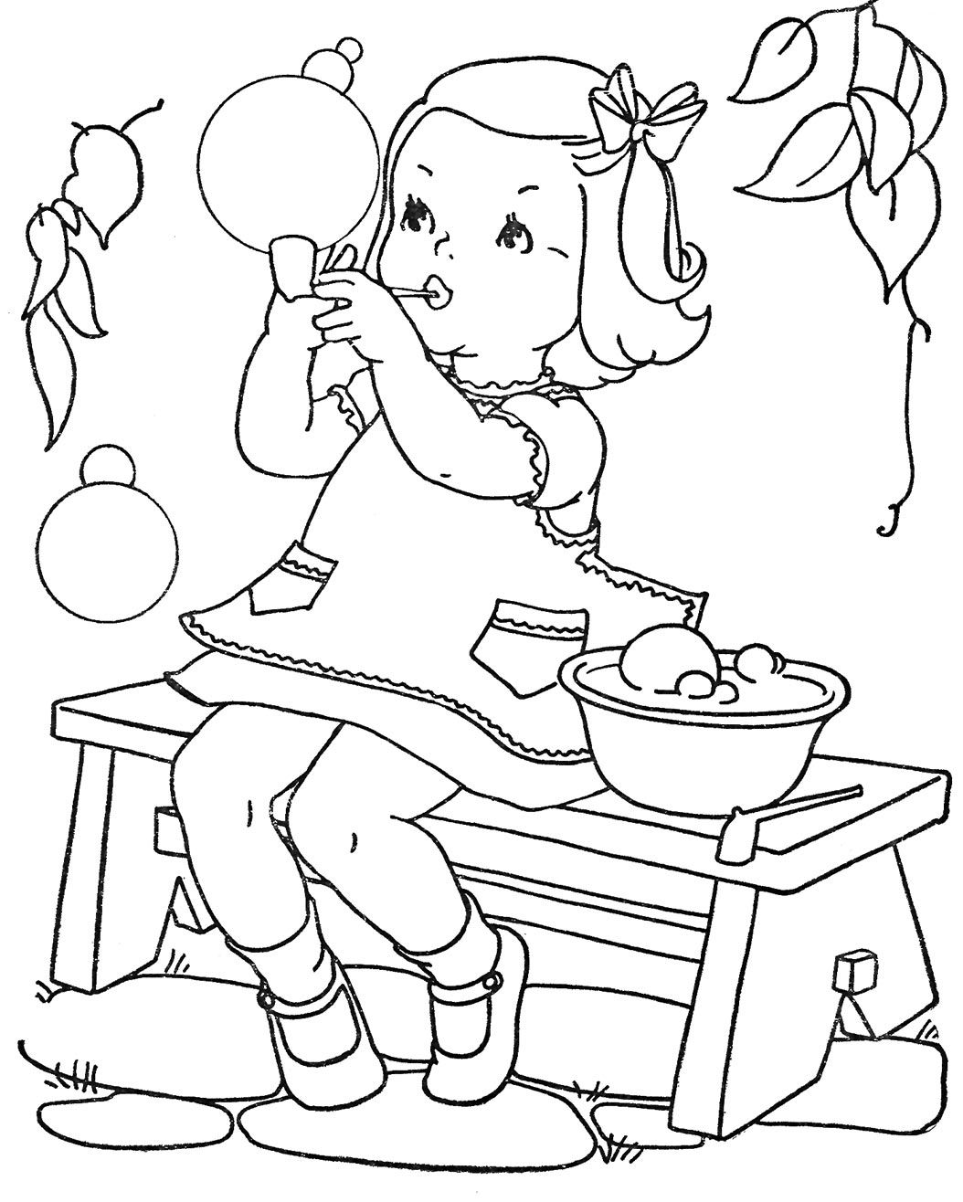 Retro Coloring Pages