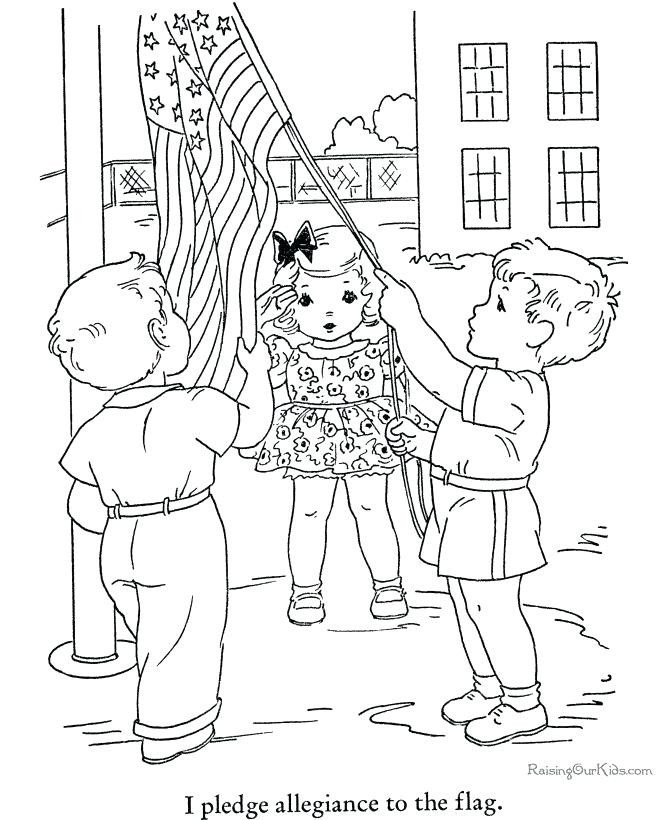 670x820 Pledge Of Allegiance Coloring Page Vintage Book Pages The Sheets