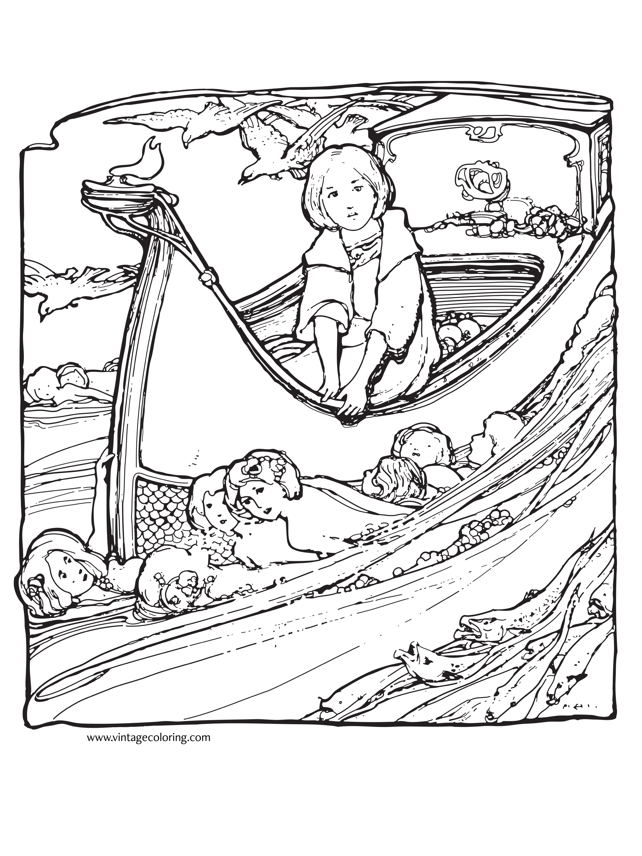 2250x3000 Precious Moments Vintage Coloring Pages For Adults Justcolor