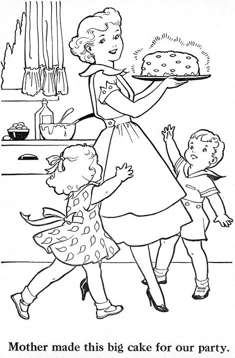 472x720 Retro Coloring Pages