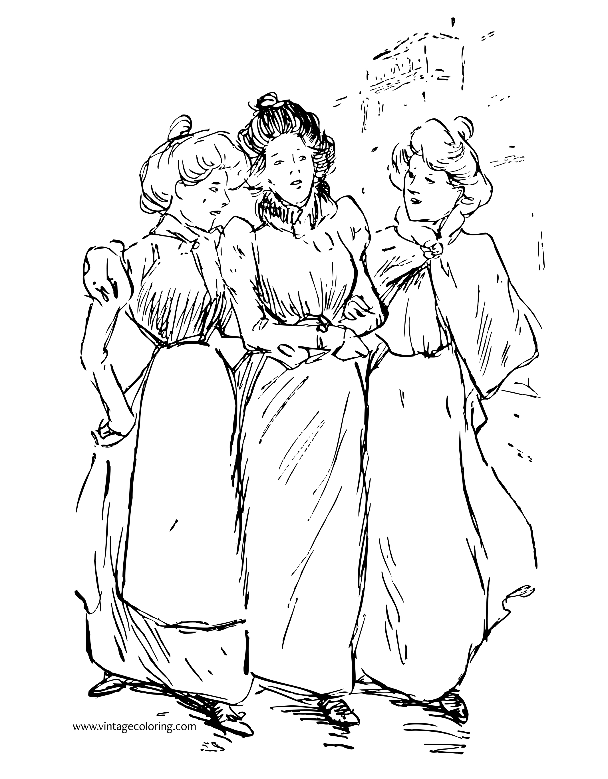 2130x2730 Top Vintage Coloring Pages Free Page