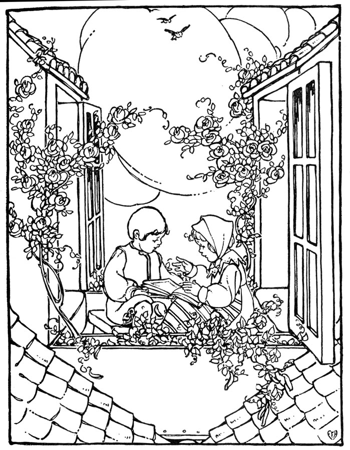 699x900 Vintage Adult Coloring Pages Coloring Page For Kids Kids Coloring