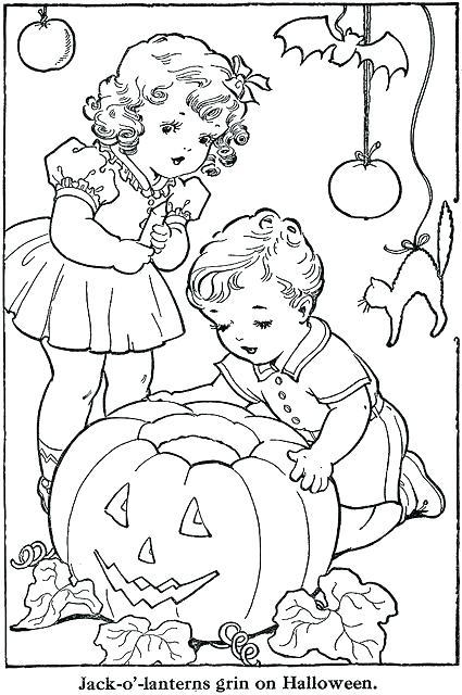 425x640 Vintage Christmas Coloring Pages Vintage Coloring Books Plus