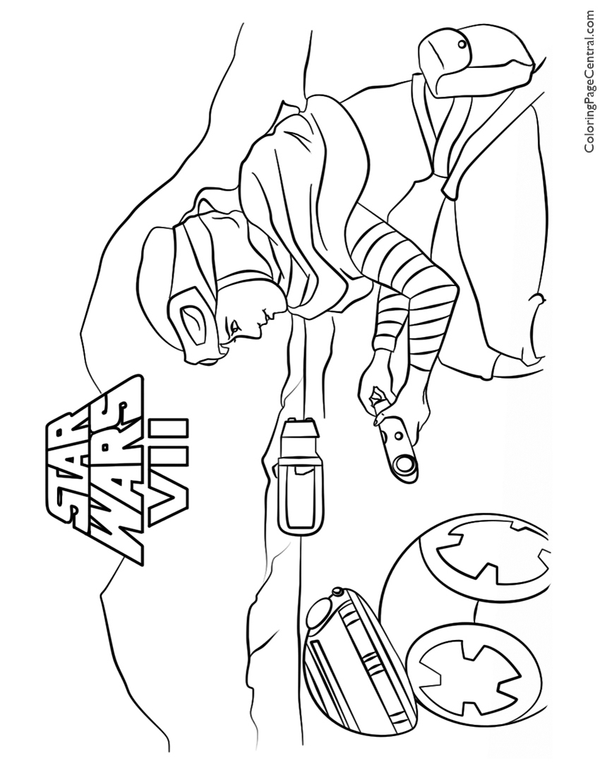 850x1100 Star Wars Rey And Bb Coloring Page Coloring Page Central