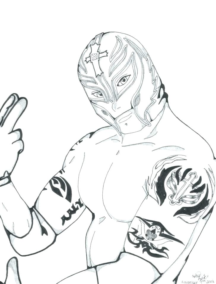 728x956 Rey Mysterio Coloring Pages Amazing Coloring Pages New Kids Wwe