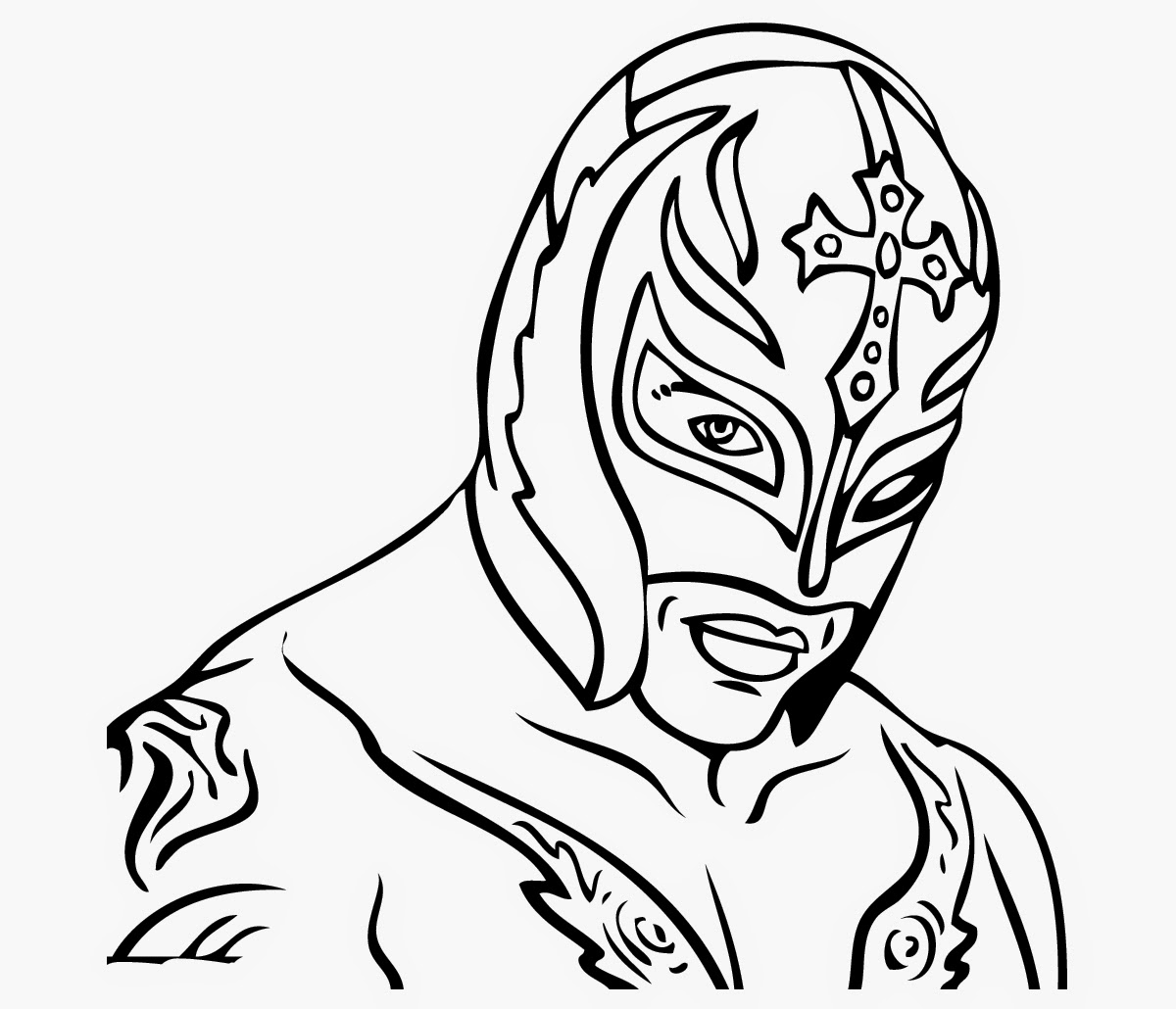 1200x1030 Rey Mysterio Coloring Pages Printable Coloring For Kids