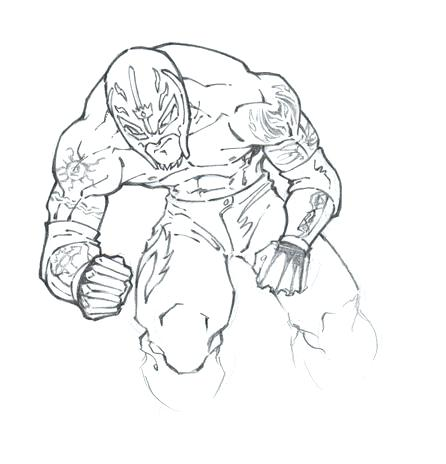 446x464 Rey Mysterio Coloring Pages Wwe Rey Mysterio Colouring Pages