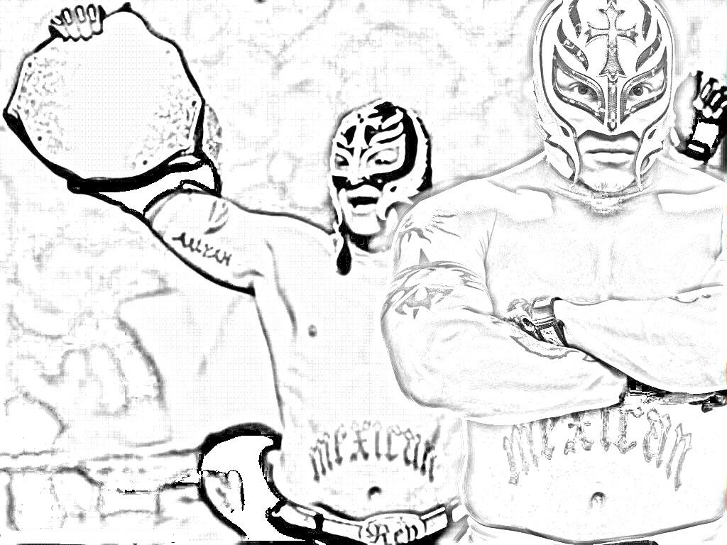 1024x768 Rey Mysterio Coloring Pages Rey Mysterio Coloring Pages Mask