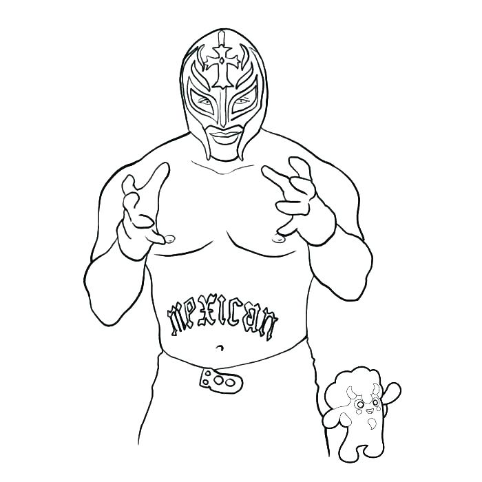 700x700 Coloring Pages Randy Wrestling Referee Rey Mysterio Cornered