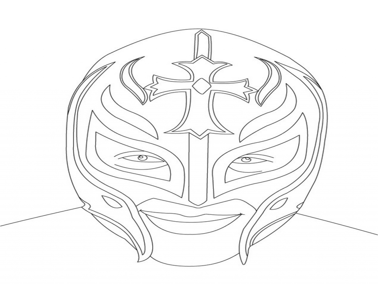 1280x960 Wwe Superstars Coloring Pages Rey Mysterio