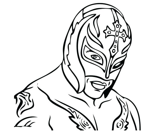 618x530 Extraordinary Amazing Rey Mysterio Coloring Pages New Raw Mask Sin