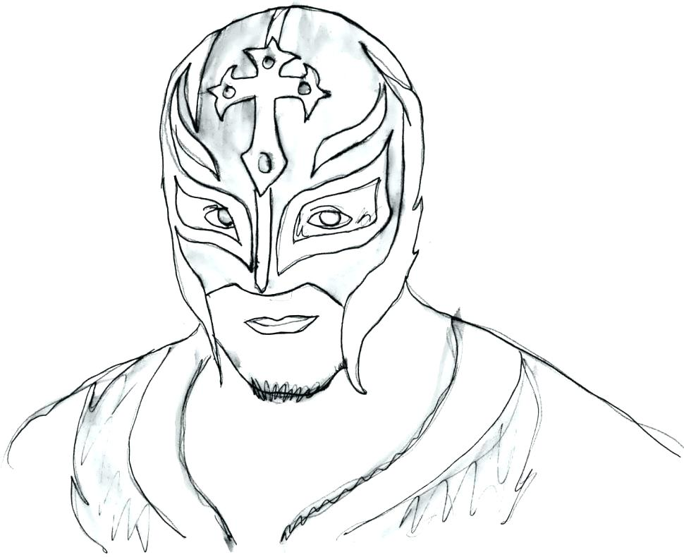 970x790 Coloring Pages Rey Mysterio Printable