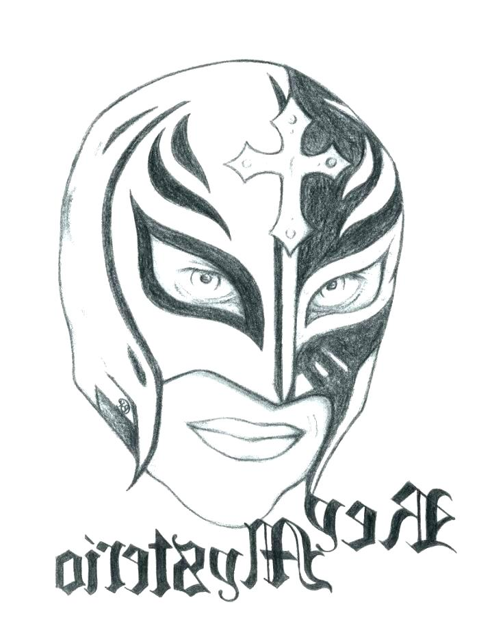 700x905 Coloring Pages Victory Scene Page Rey Mysterio Mask Sheet Sheets