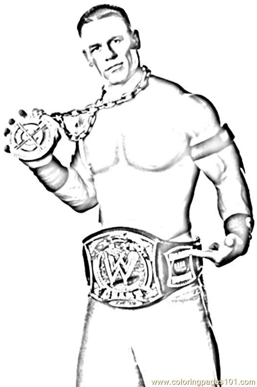 526x792 Fresh Wrestling Coloring Pages John Cena The Rock Rey Mysterio