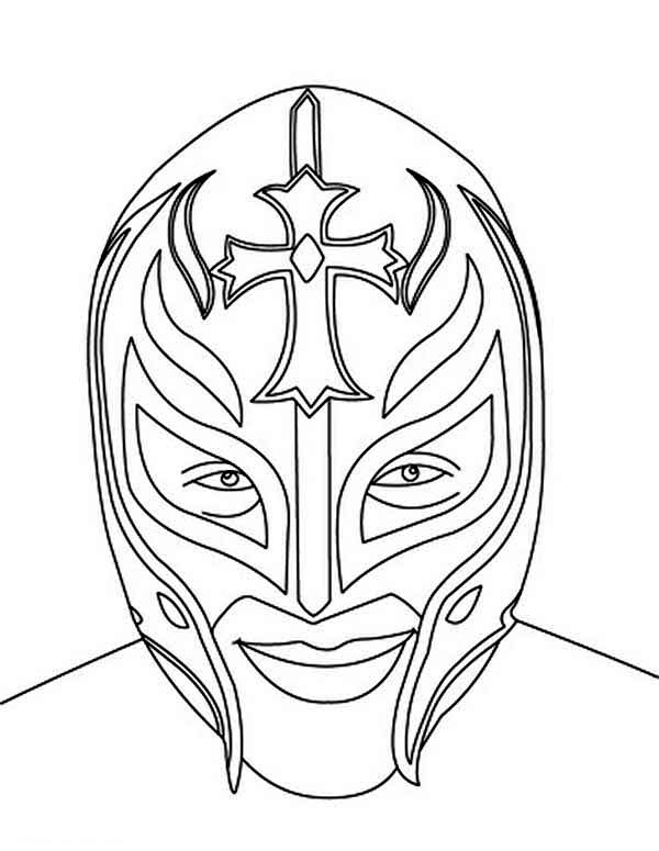 600x775 Picture Of Rey Mysterio Coloring Page Color Luna