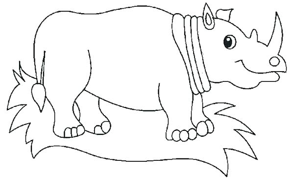 600x363 Rhino Coloring Page Rhinoceros Coloring Page Rhino Coloring Page