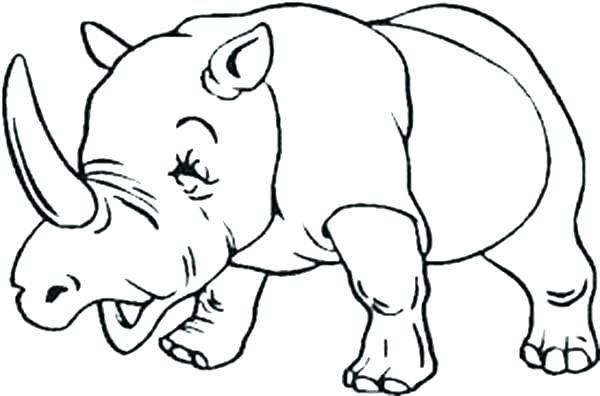 600x396 Rhino Coloring Page Rhinoceros Coloring Pages Drawn Rhino Coloring