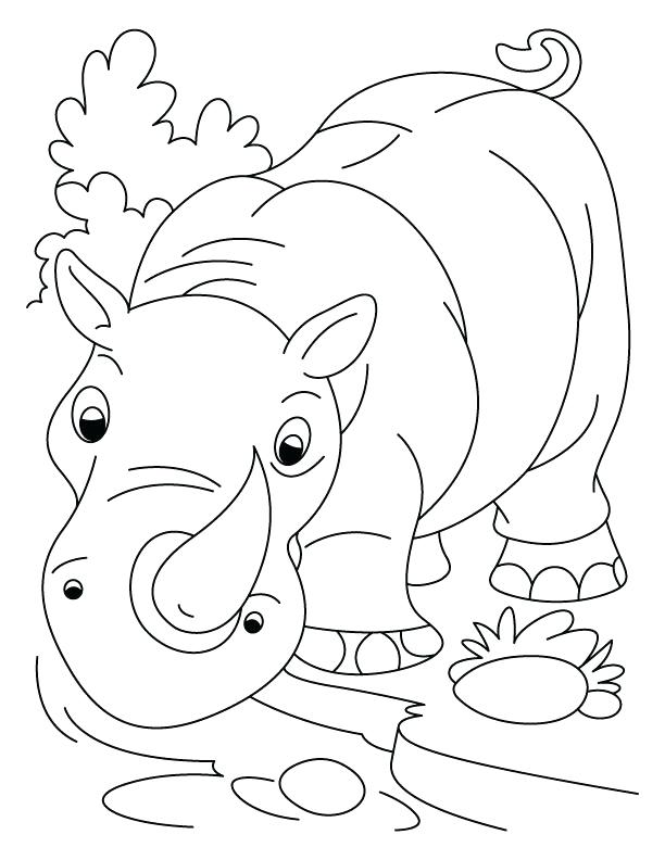 612x792 Kids With Rhino Coloring Page Baby Rhino Coloring Page