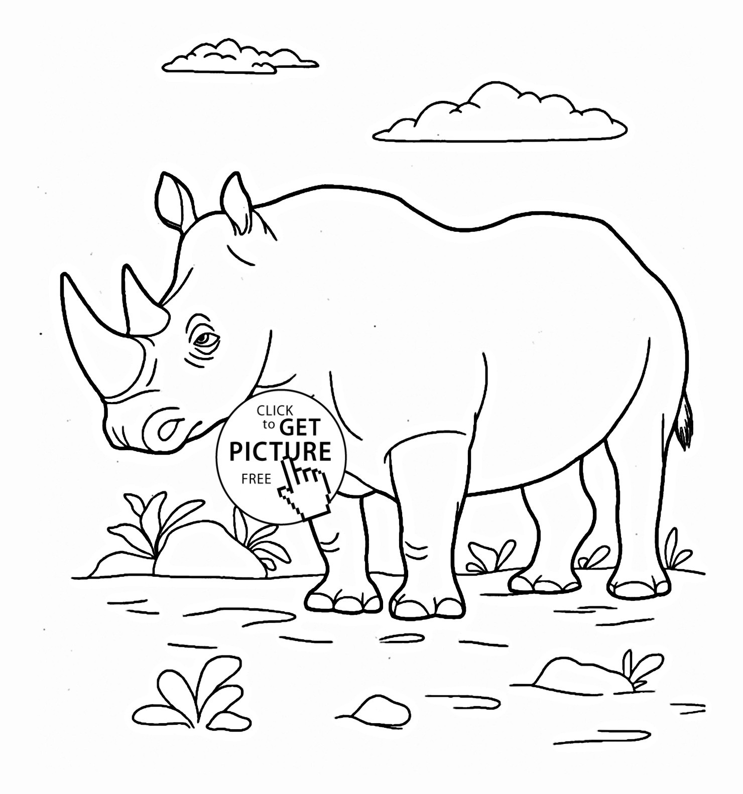 1480x1582 Realistic Rhino Coloring Pages Best Of Black Rhino Coloring Pages