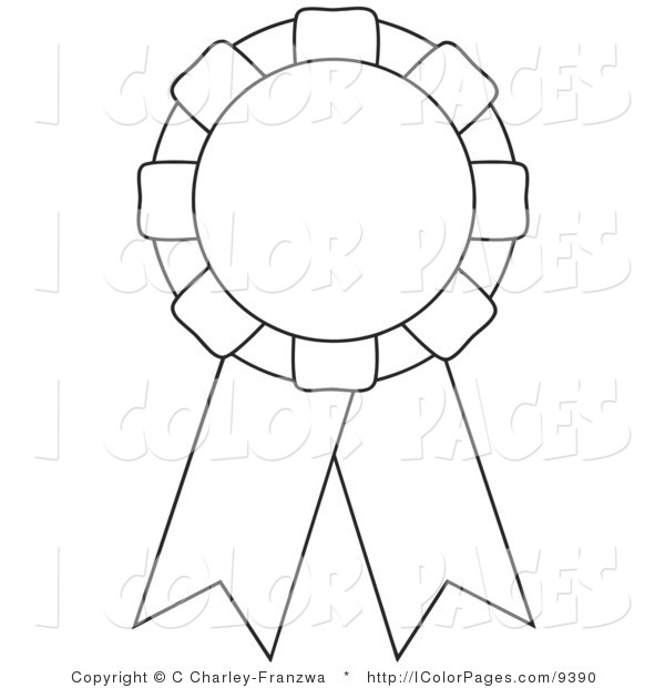 600x620 Ribbon Coloring Pages
