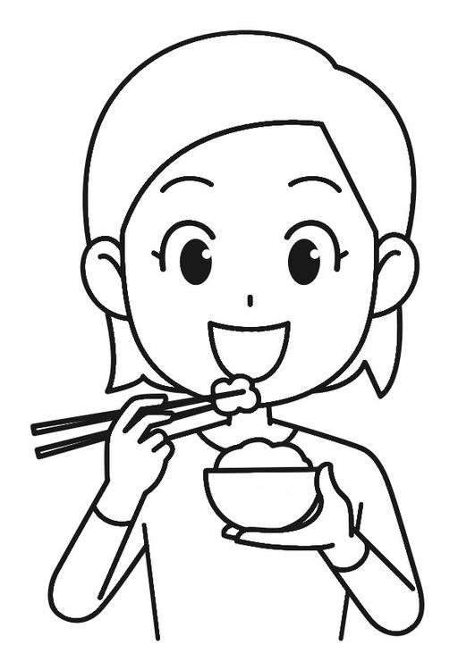 531x750 Coloring Page Rice