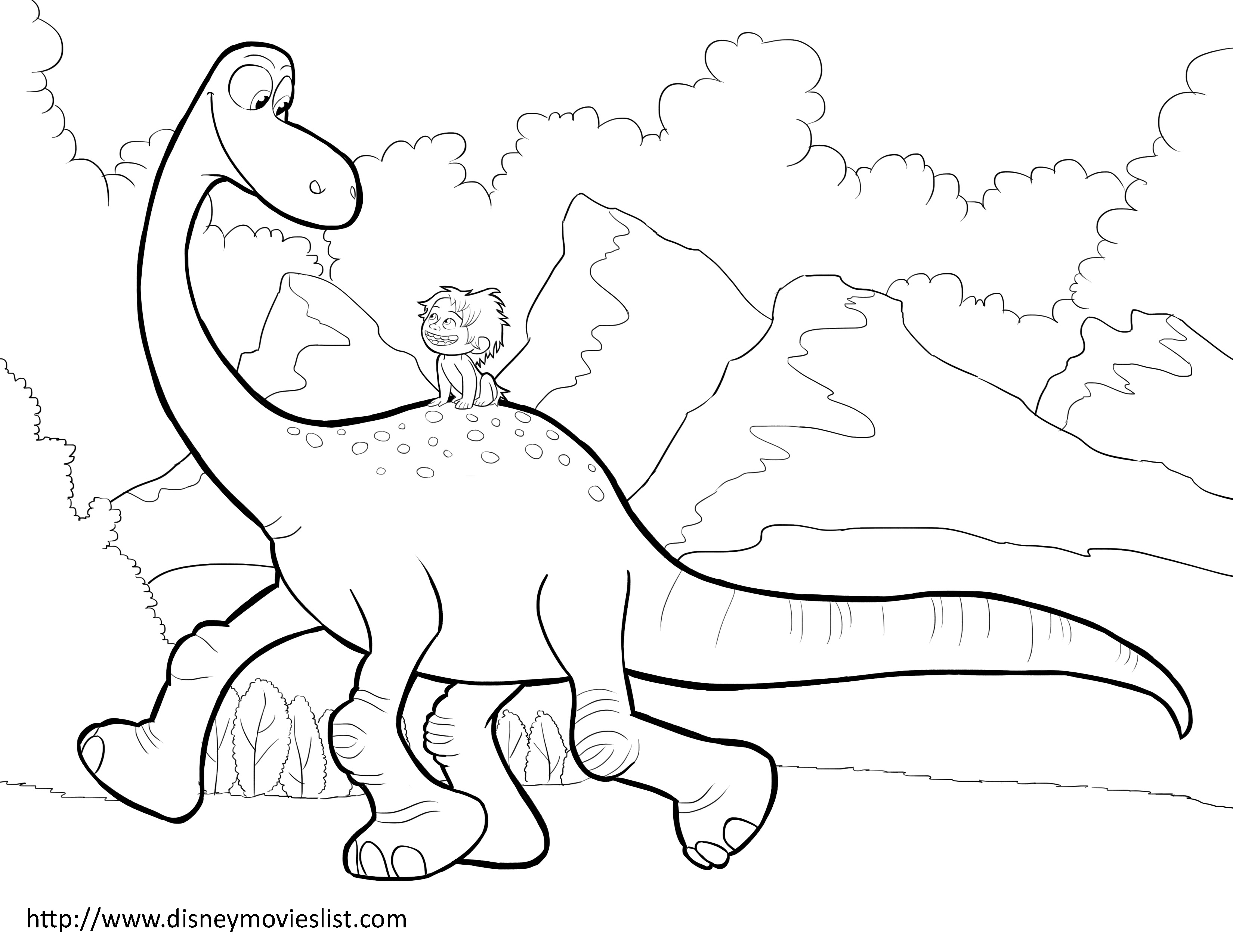 3300x2550 Disney's The Good Dinosaur Arlo And Spot Coloring Page The Good