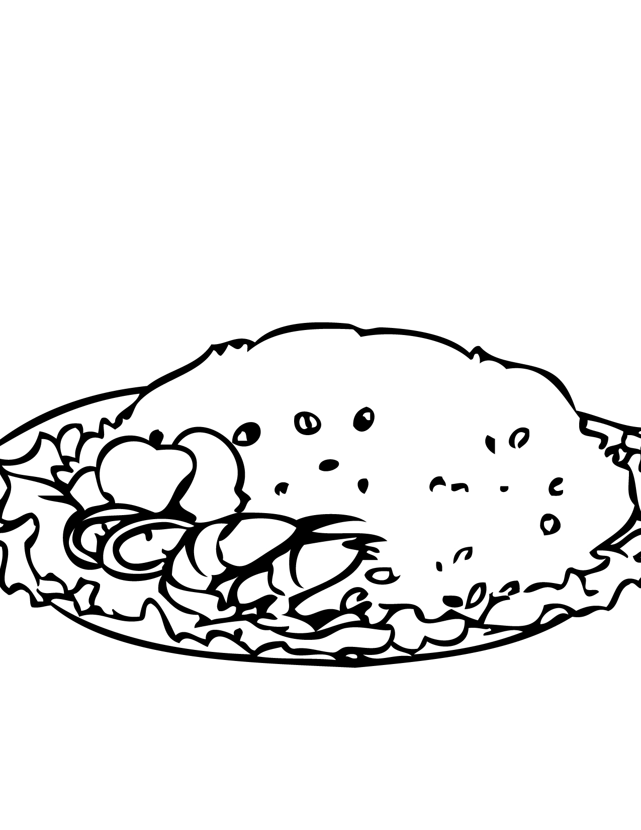 1275x1650 Fried Rice Coloring Page
