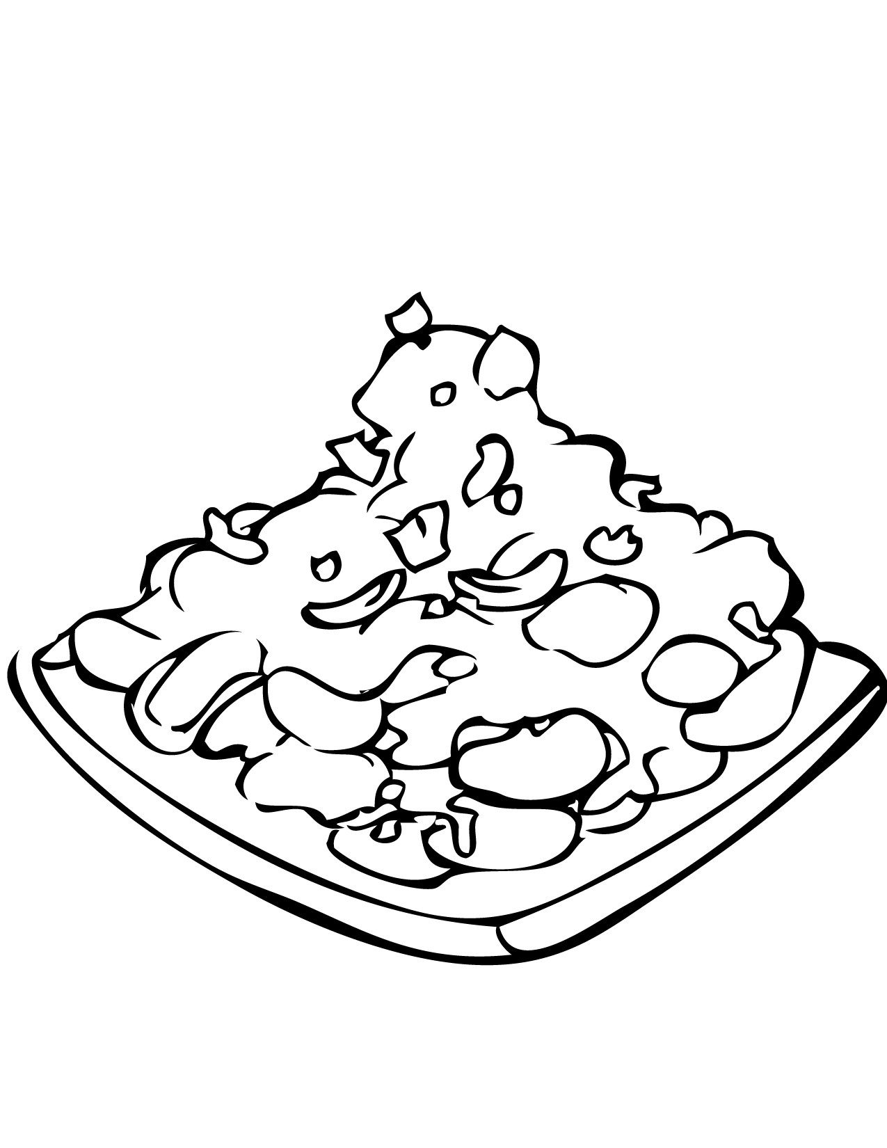 1275x1650 Kung Pao Chicken Coloring Page