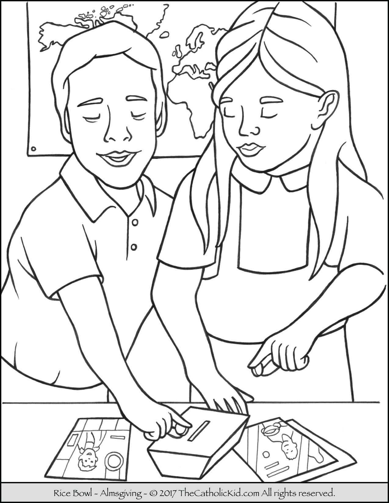 1275x1650 Lent Rice Bowl Coloring Page Lent Children