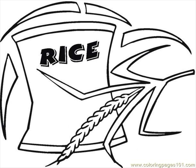 650x557 Rice Coloring Page